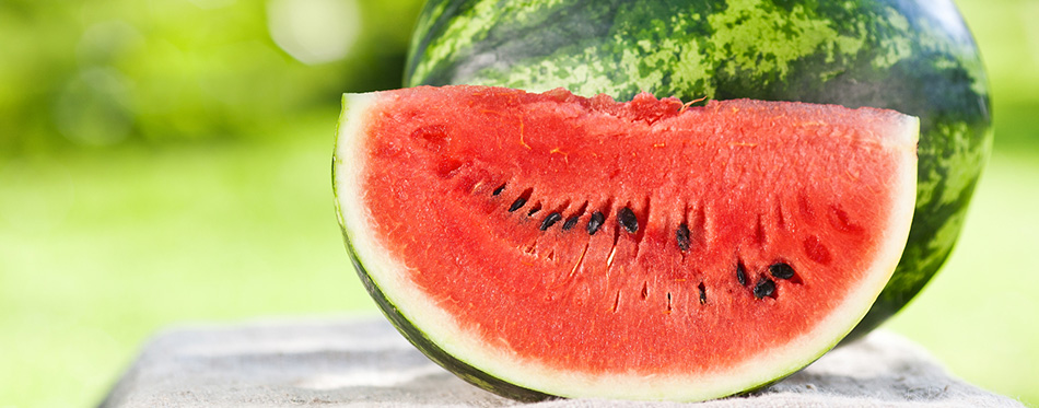 Fresh watermelon against natural background