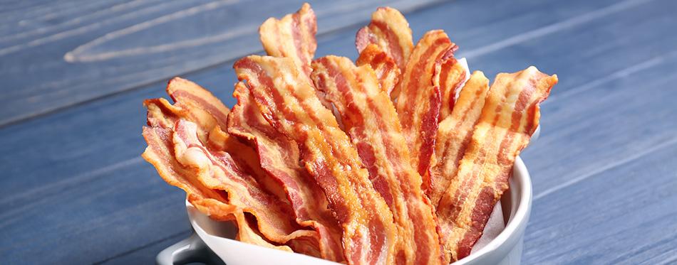 Tasty bacon slices