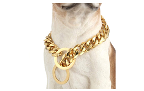 W&W-Lifetime-Custom-Ultra-Strong-Gold-Plated-Slip-Chain-Dog-Collar-image