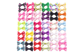YAKA-Cute-Puppy-Dog-Bowknot-Hair-Bows-image