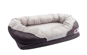 BarksBar-Gray-Orthopedic-Washable-Dog-Bed-image