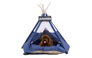 Arkmiido-Pet-Teepee-Dog-Bed-image