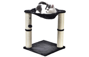 AmazonBasics-Cat-Hammock-Bed-and-Scratching-Post-image