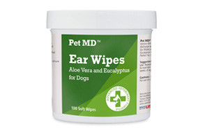 pet md dog ear cleaner wipes