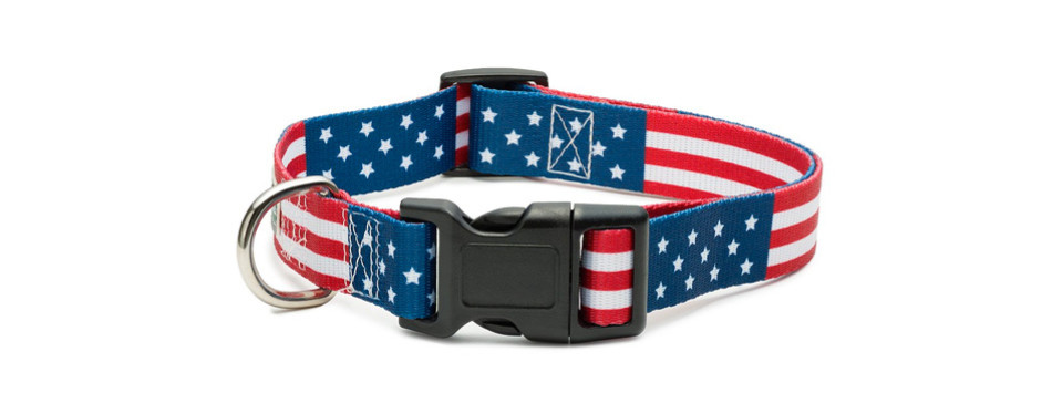 american flag dog collar