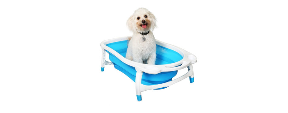 BaileyBear Porta Tubby Collapsible Portable Foldable Dog Bath Tub