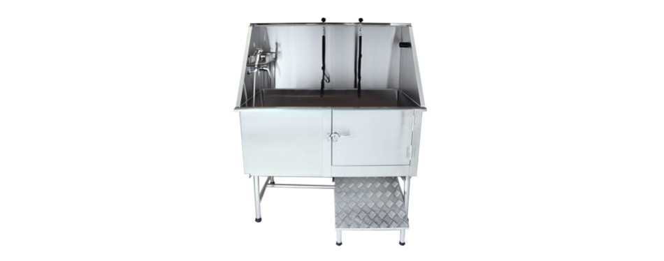 Flying Pig Grooming Professional Stainless-Steel Pet Dog Bath Tub