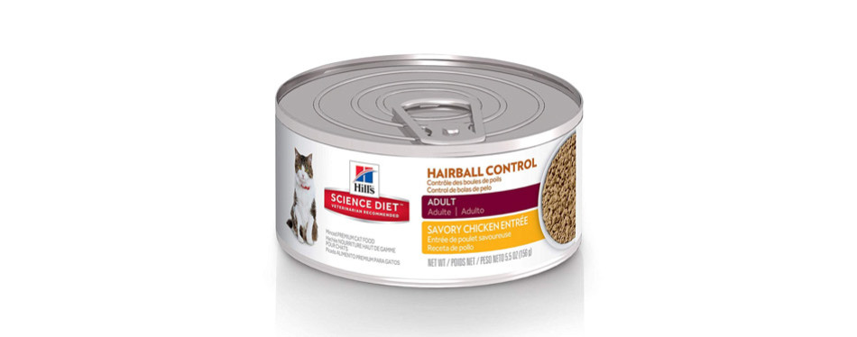 Hill'S Science Diet Hairball Control Canned Cat Food