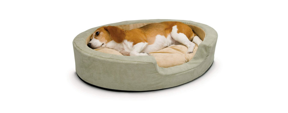 K&H Thermo Snuggly Sleeper Heated Dog Bed