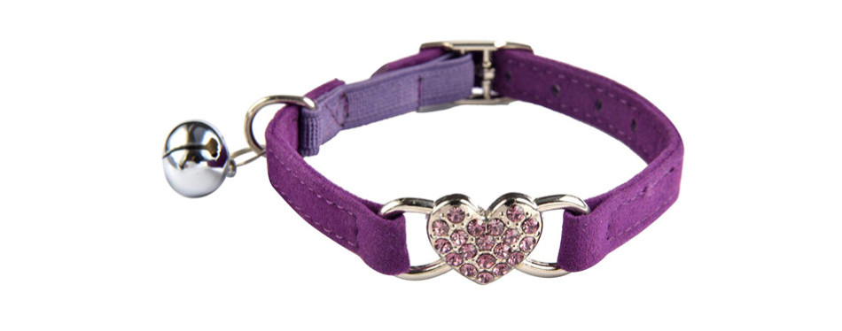 KOOLTAIL Heart Bling Cat Collar