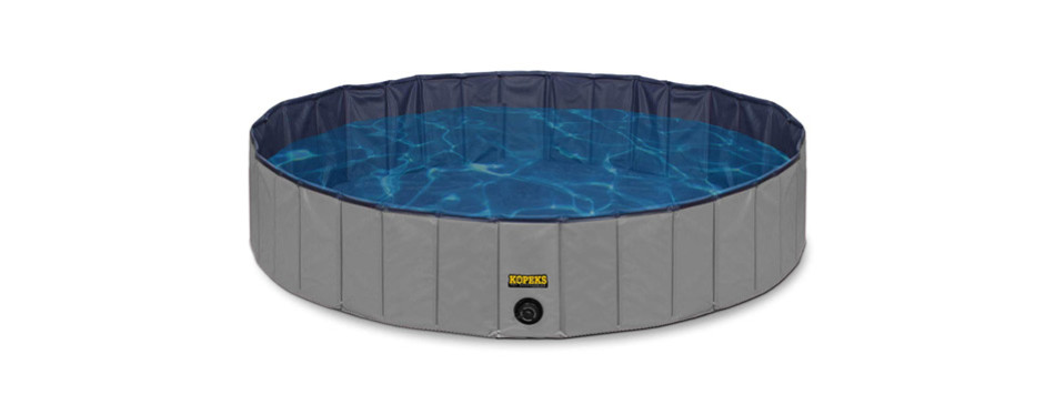 KOPEKS Round Heavy-Duty PVC Outdoor Dog Bathing Tub