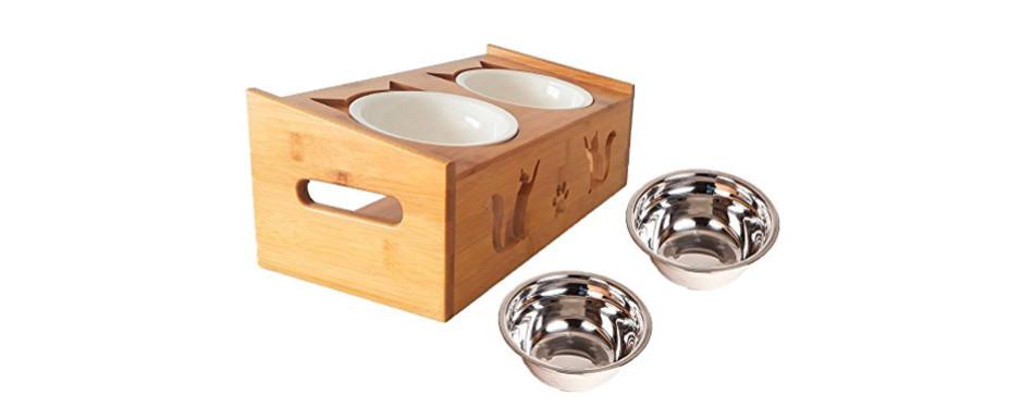 Lepet Elevated Cat Bowls