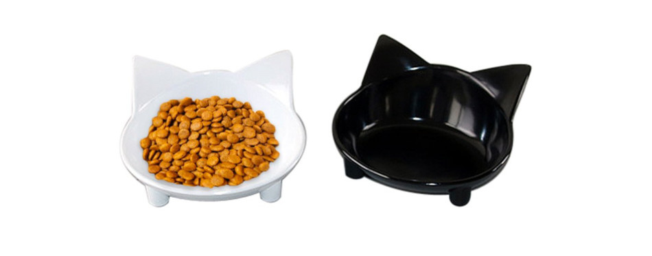 Lorde Shallow Cat Food Bowls