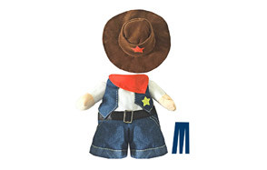 mikayoo cowboy costume for cats
