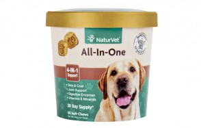 NaturVet All-in-One 4-IN-1 Multivitamin Calcium Supplement for Dogs