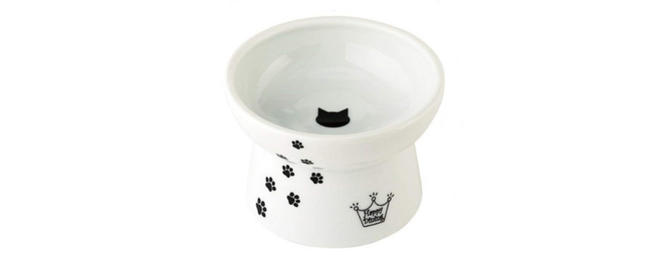 necoichi raised cat water bowl
