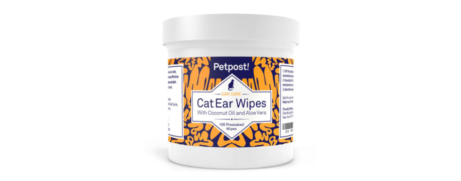 Petpost Pet Ear Cleaner Wipes for Cats