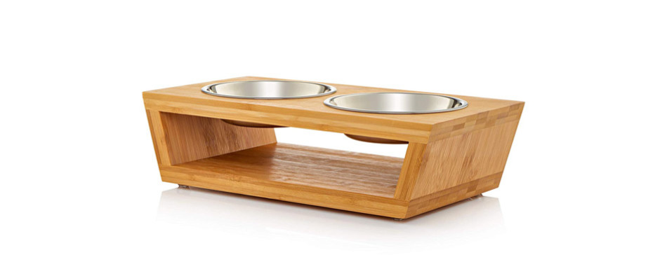premium elevated cat water bowl
