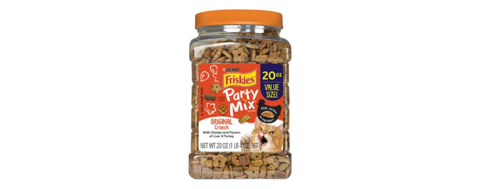 purina friskies party mix adult cat treats
