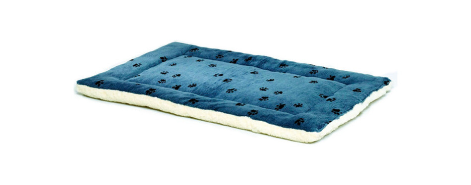 Reversible Paw Print Dog Crate Pad