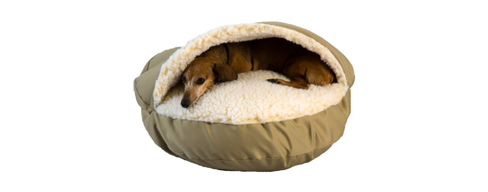 Cozy Cave Heated Dog Bed in Poly Cotton