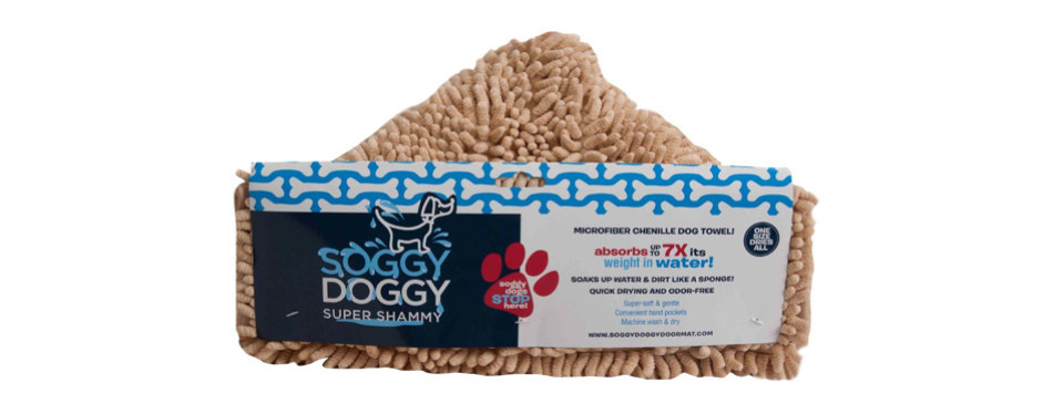 Soggy Doggy Doormat Dog Drying Towel