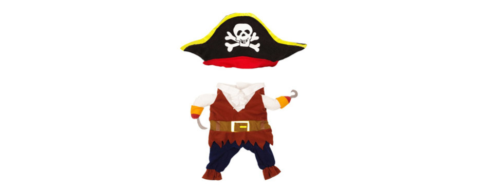 Topsung Cool Caribbean Pirate Costume for Cats