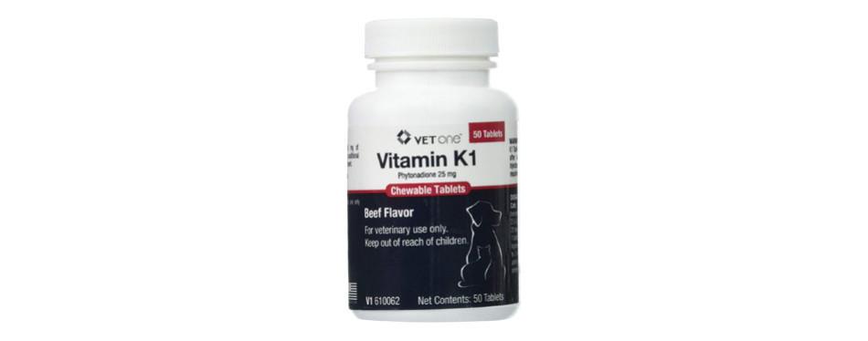 Vet One Vitamin K1 Chewable Tablets