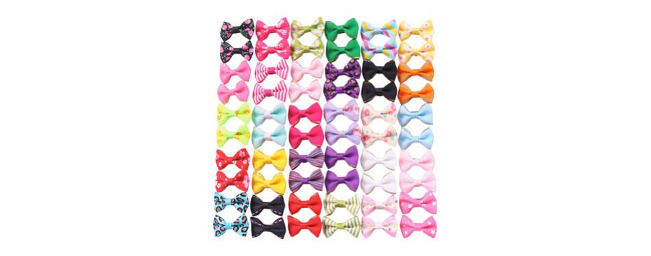 YAKA Cute Puppy Dog Bowknot Hair Bows