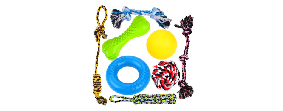 Youngever 8 Durable Dog Toys