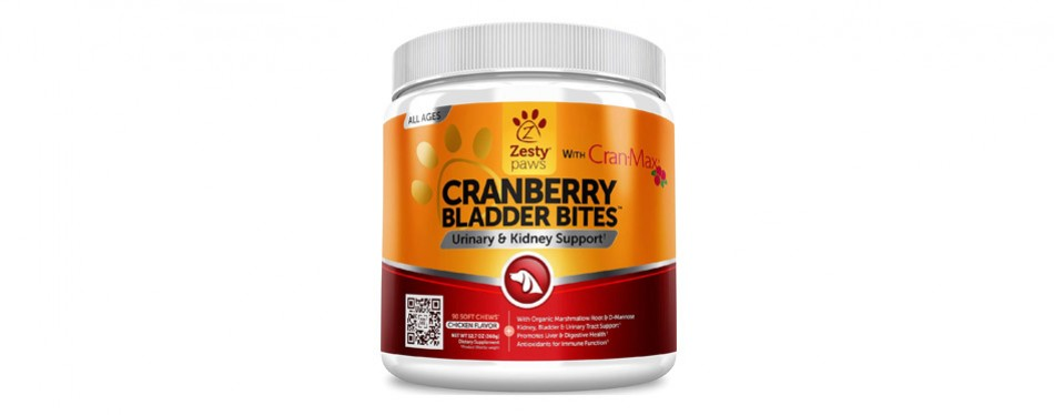 Zesty Paws Cranberry Bladder Bites for Pregnant Dogs