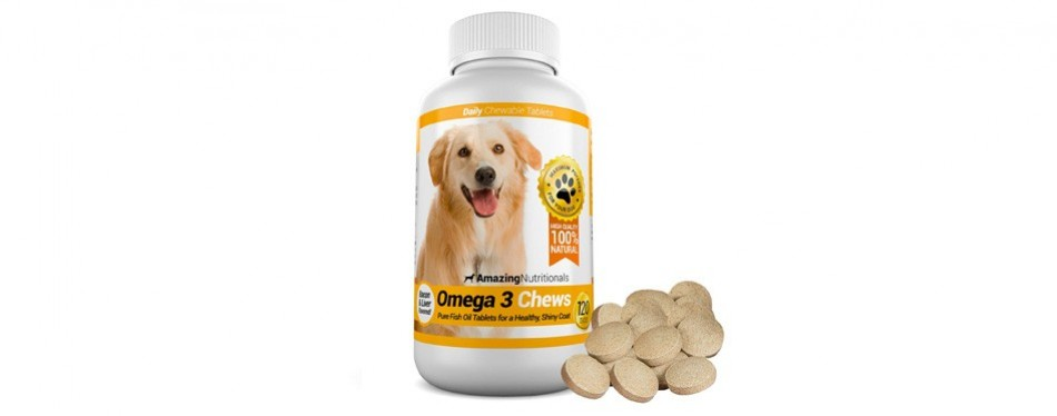 amazing nutritionals omega-3 fish oil for dogs