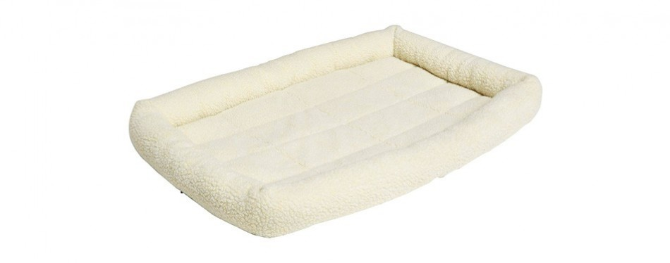 amazonbasics padded bolster dog bed