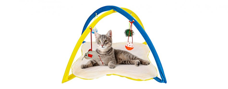 animals favorite cat play mat