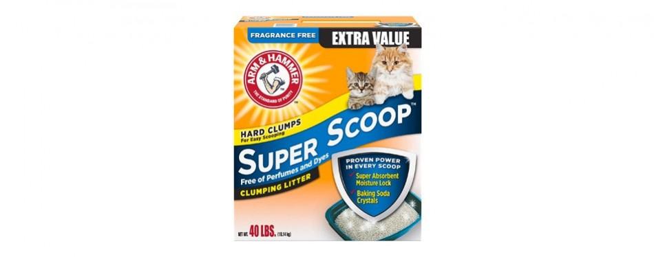 arm & hammer super scoop clumping cat litter