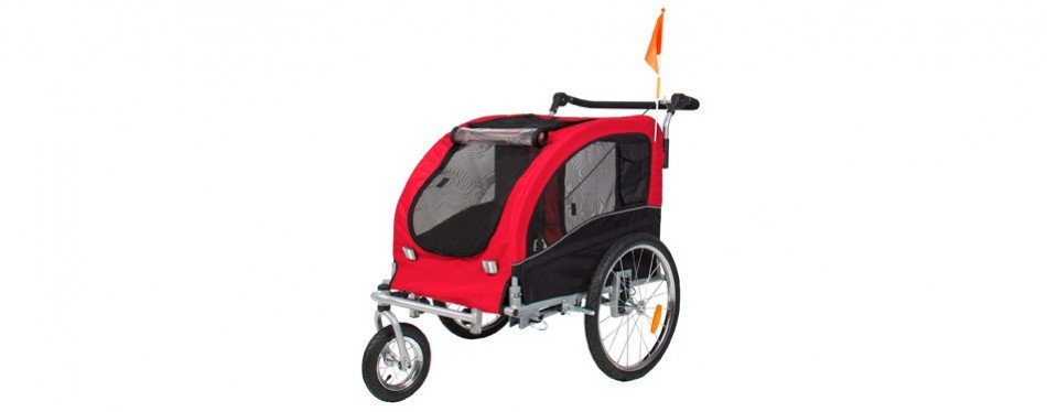 best choice products pet stroller and trailer