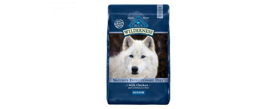 blue buffalo wilderness high protein grain free senior dog food