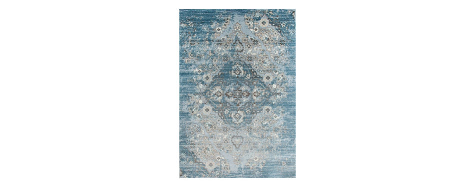 blue persian area rug