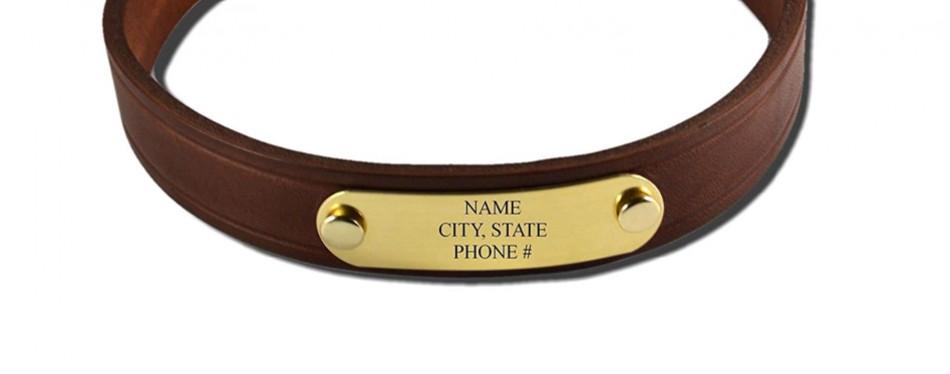 brass id tag