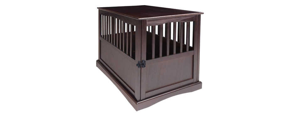 casual home wooden dog crate