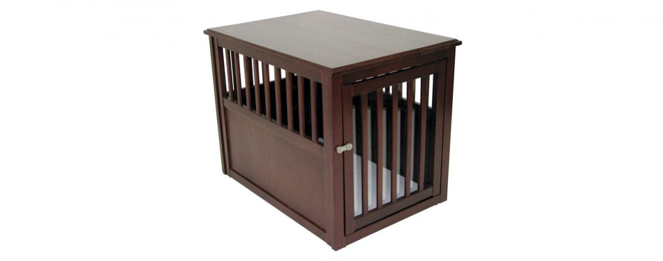 crown pet products crate end table