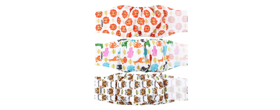 dog diapers with pattern