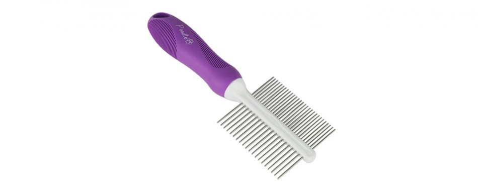 double-sided flea comb for cats