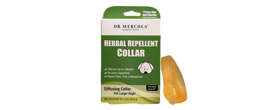 dr. mercola herbal repellent flea collar for dogs