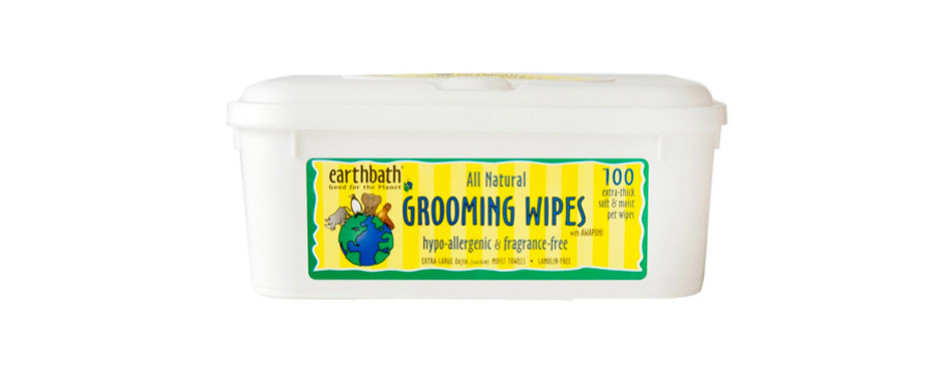 earthbath all natural grooming wipes