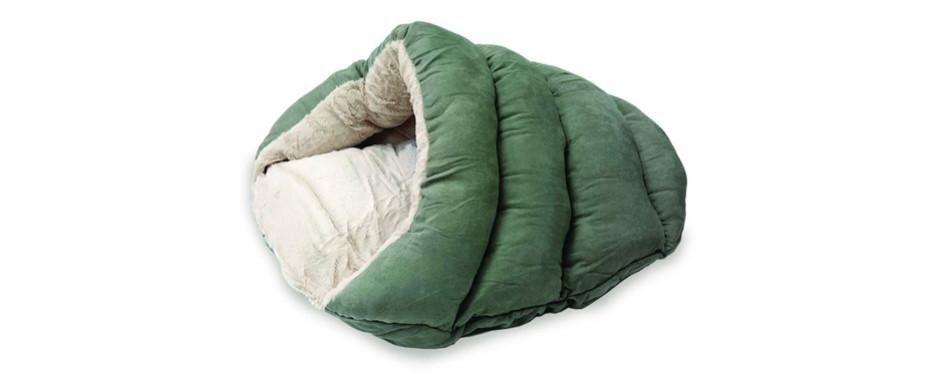 ethical pets faux suede cuddle cave pet bed