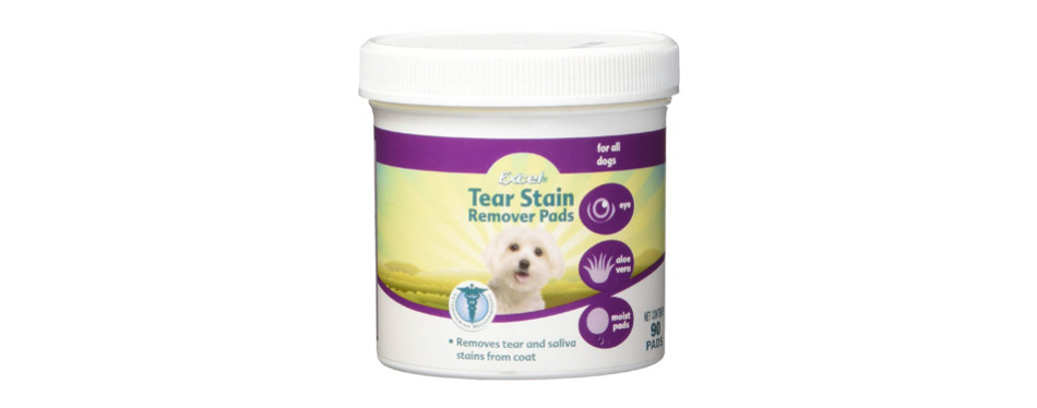 excel 8-in-1 tear stain remover pads
