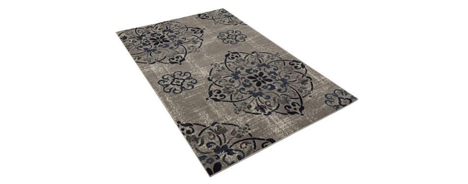 flower design rug