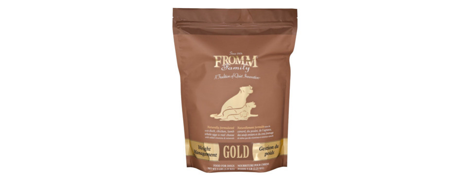 fromm gold dog food for weight loss