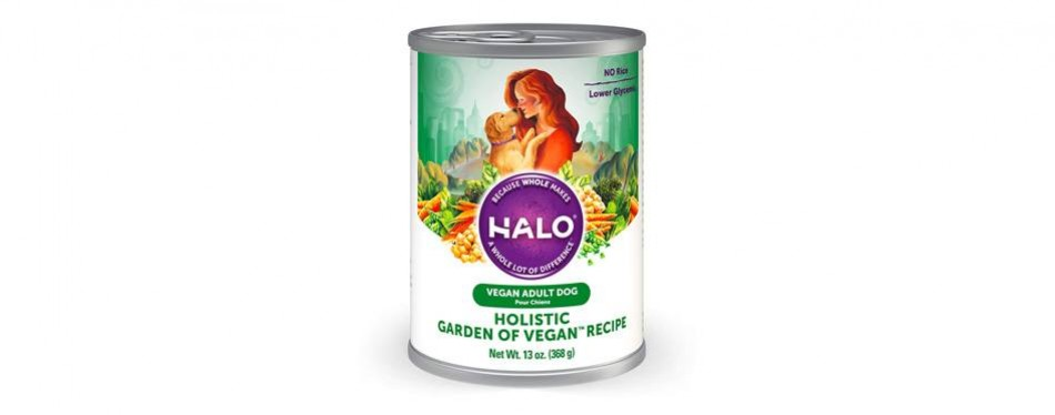 halo holistic garden vegan wet dog food